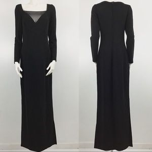 TADASHI Saks Fifth Avenue Black Long Sleeve Gown